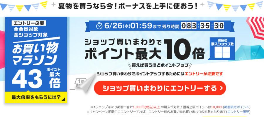 楽天市場でお買い物マラソンが開催!G20大阪サミットの影響は?
