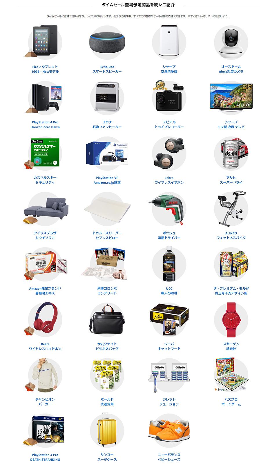 Amazonの初売りセールが2020年1月3日からスタート!中身が見える福袋を販売!