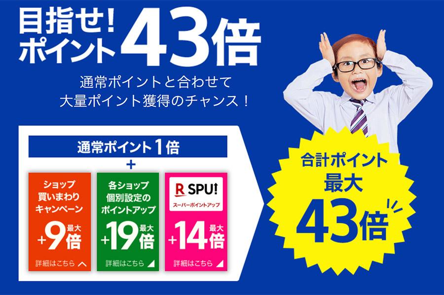 楽天市場では6月の楽天スーパーセールが2021年6月4日(金)20:00からスタート!